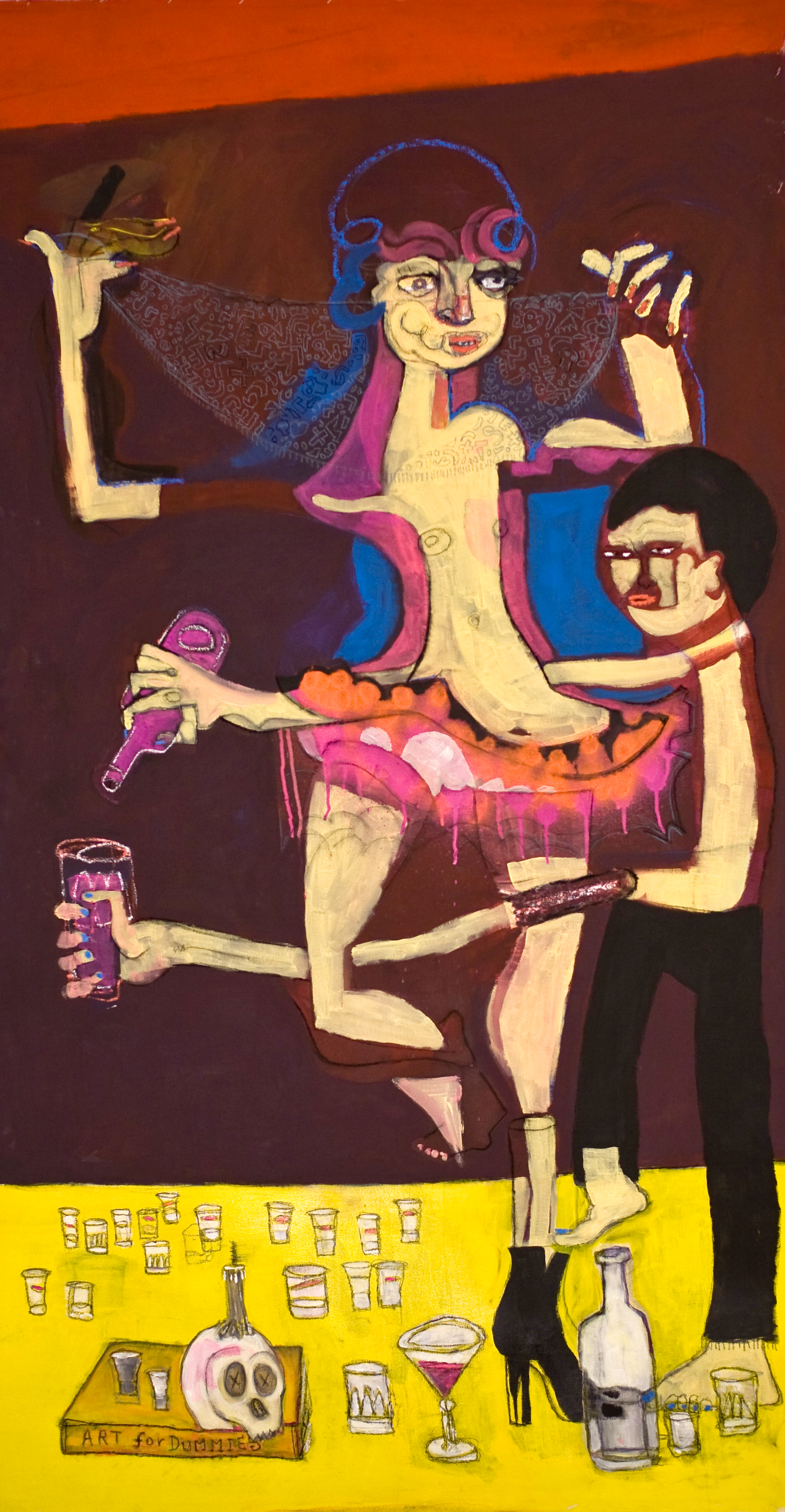 DANCING ON THE EDGE OF TRUTH-80x160Cm-31.5x63In-AC-BERLIN-2013