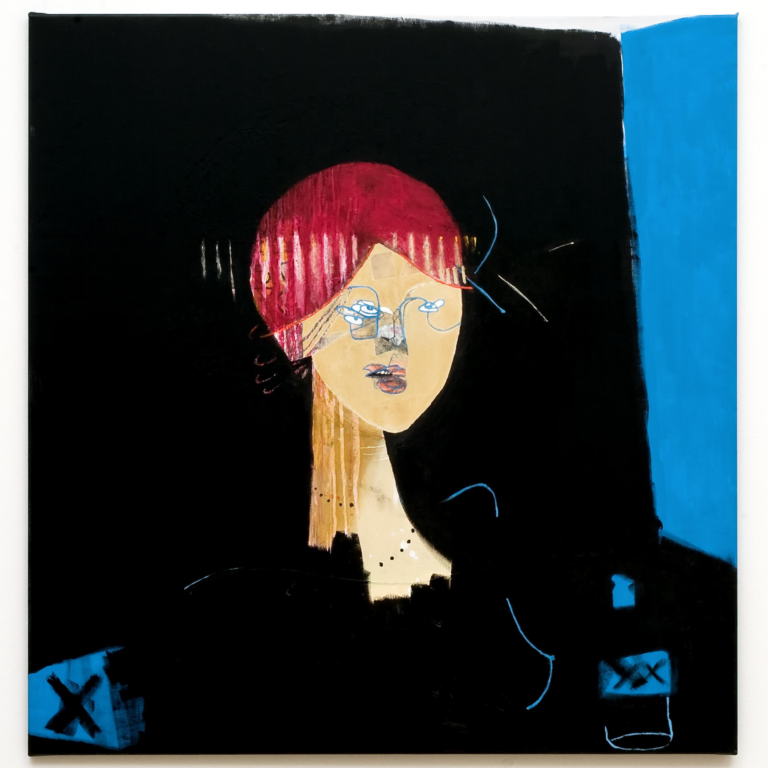 ELI AS REDHEAD-100X100Cm-39.4X39.4In-MMC-2009-BERLIN