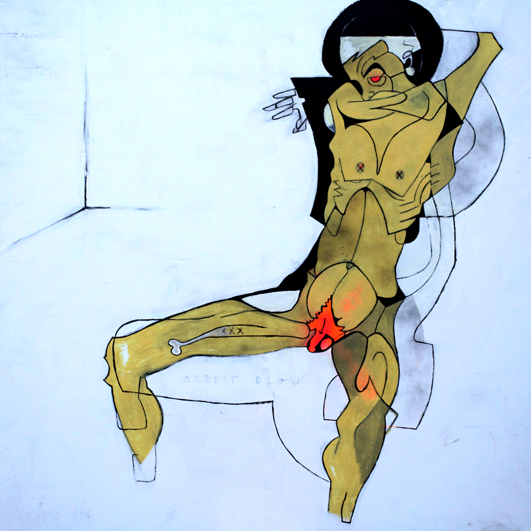 MALE NUDE-150X155Cm-59x61In-MMC-BERLIN-2011